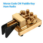 Copper Iambic Double Paddles Keyer Dx-kv Cw Morse Code For Telegraph Transmitter