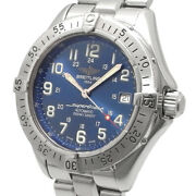 Breitling Super Ocean Menand039s Date Automatic Automatic A17340 Blue Excellent+++