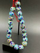 Old Antique Glass Beads Necklace From Ancient Historic Roman's Times Dynasty