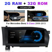 Android 10.0 Car Gps Radio Stereo Navigation For Benz S W221 S300 S350 2005-2013