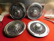 4 Used 73 74 75 76 77 78 Buick Regal Century Riviera Electra 15 Wire Wheelcover