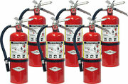 6 Pack Amerex B402 5 Lbs Dry Chemical Class A B C Fire Extinguisher W/wall Mount