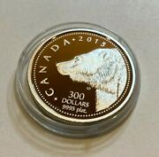 2015 Canadian 9995 Platinum 300 Dollars Grizzly Bear Coin