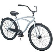 Huffy 26 Cranbrook Mens Cruiser Bike Perfect Fit Frame White Fast Free Shipping