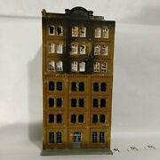 N Scale Building Apartment 7 Story Burned Nicely Detailed Pola Built Exc