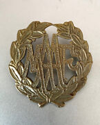 Malaya Auxiliary Air Force Maaf Cap Badge Singapore Colonial Straits Settlements