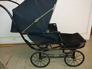 Antique Early Folding Baby Buggy Carriage Junior Tourist Baby Stroller Pushchair