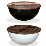 Coffee Table Solid Reclaimed Wood Bowl Shape Couch Stand Nightstand Sofa Side