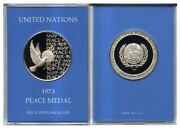 United Nations 1973 Sterling Silver Peace Medal