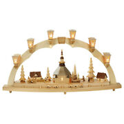 German Candle Arch Village Of Seiffen Length 80 Cm / 32 Inch Na.. Rg 01025 New