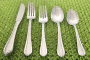 20 Pc Gorham Frosted Melon Bud Stainless Flatware Set Service For 4