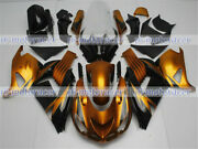 Fairing Fit For Zx14 2006-2011 06-11 Gold Black Injection Mold Plastics Set A15