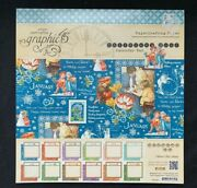 Graphic 45 Children's Hour 12 X 12 Calendar Pad 24 Double-sided Sheets