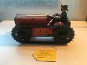 1930's Marx Tin Tractor Wind Up Toy Made In Usa
