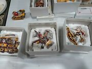 11 Danbury Mint Redskins Christmas Tree Ornaments 2005-2015 With Boxes