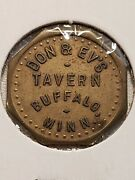 C. 1955-63 Buffalo Mn Trade Token Don And Evand039s Tavern Good For 10c Tc-167631