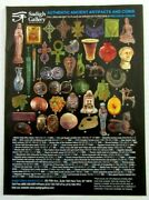2011 Sadigh Gallery Authentic Ancient Artifacts And Coins Magazine Ad