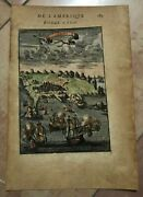 Angra Terceira Acores 1683 Alain Manesson Mallet Antique View In Colors