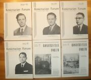 33 Off Rosicrucian Forum Amorc 1963 Complete 6 Issues. Very Good Condition.rare