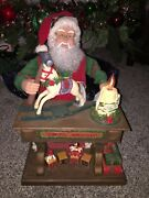 Vtg Santa's Workshop Holiday Creations 20 Animated Lighted W/music And Horse 1993