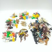 Large Lot Of Vintage Plastic Animal Toys - Goats, Sheep, Bears, Dogs, Horses