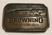 Vintage Browning Finest In The Field Brass Beltbuckle