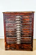 Antique Printers Cabinet Apothecary Cabinet