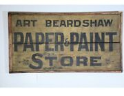 Double Sided Antique American Trade Sign Paint And Paper Store