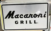 Macaroni Grill Reflective Interstate Highway Sign 18 X 30 Man Cave Pool