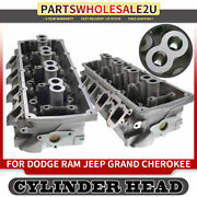 2x Cylinder Head For Dodge Ram 1500 2500 3500 Jeep Grand Cherokee 5.7l Ohv 03-08