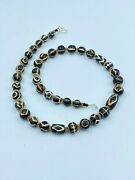 Old Antique Ancient Pyu Culture Dynasty Etched Amulet Prayer Jewelry Beads Mala