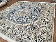 Handmade Square Rug 6.5 X 6.5 Oriental Wool Rug With Silk Accents 6x6 Rug 7x7