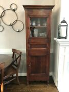 Early 21st Century Pottery Barn China Cabinet Hutch Or Pie Safe