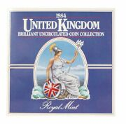1984 United Kingdom Brilliant Uncirculated Coin Collection 8 Coin Mint Set