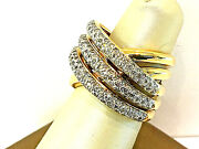 14k Yellow Gold Cigar Band Ring With 1.50ct. Total Weight.size 6.75