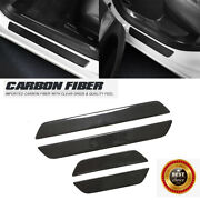 Carbon Fiber Door Scuff Sill Cover Panel Step Protector For Tesla Model 3 2017up