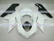 Fairing Fit For 07-12 Ducati 848 1098 1198 White Black Injection Body Kit A39