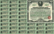 100 4th Liberty Loan Converted Gold Bond Obsolete Currency Sheet Reproduction