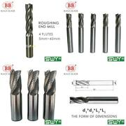 Bb Roughing End Mill Hss Cutters 4 Flute 5mm To 45mm Saw Blade Metal Machining I