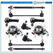 10pcs Fits 2007 Chevy Pontiac Wheel Hub And Bearing Tie Rod End Link Ball Joints