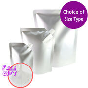 Multi-size Silver Glossy Aluminium Mylar Stand Up Spout Pouches W/ Funnel M01
