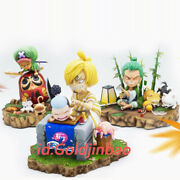 Lc One Piece Zoro Sanji Chopper Resin Model Painted Statue In Stock Collection