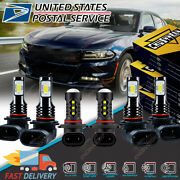 For Dodge Charger 2006 2007 2008 2009 6000k Led Headlights Hi/low + Fog Lights