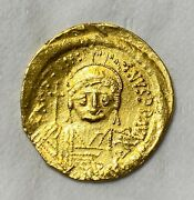 Ancient Byzantine Gold Coin Justinian I. 527-565 A.d. Solidus Nice Coin