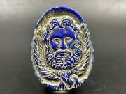 Old Antique Lapis Human Face Figure Pendant Intaglio From Ancient Romanand039s