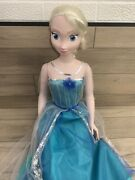 Frozen Elsa Life Size Doll 38 Disney My Size Huge 3 Feet Tall W/ Shoes And Dress