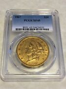1867 Xf45 Pcgs 20 Liberty Double Eagle Gold Coin Very Nice Rarer Date