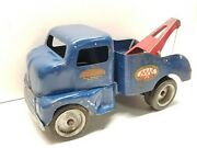 Vintage 1949-52 Tonka Mound Mn Sevice Wrecker Tow Truck Pressed Steel Rare Early