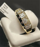 Fashion 14k Gold Mens White Sapphire Rings Gift Engagement Jewelry Size 6-12