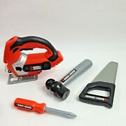 Black Decker Kids Pretend Play Toy Tools Hand Saw Table Saw Hammer Screwdriver
